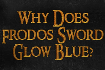 Why does fordos sword glow blue