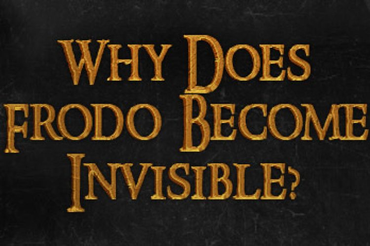 Why does frodo become invisible